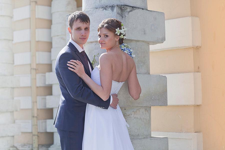 Молодожены Анна и Алексей