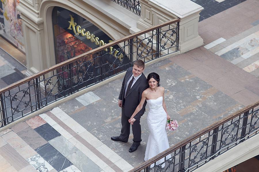 Свадебная прогулка в ГУМе