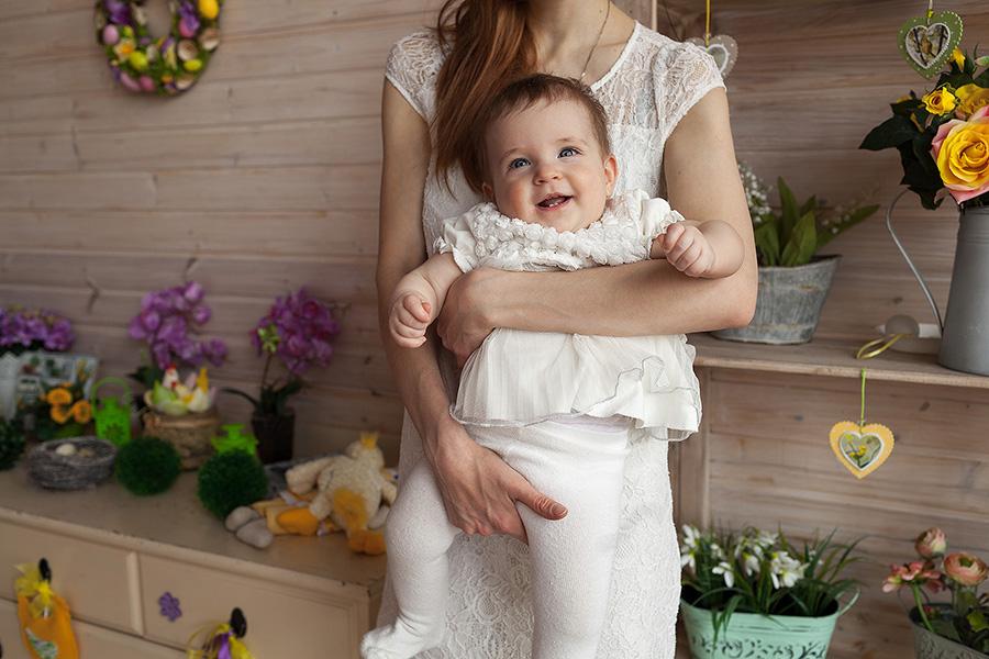 Тоня с мамой на фотосессии