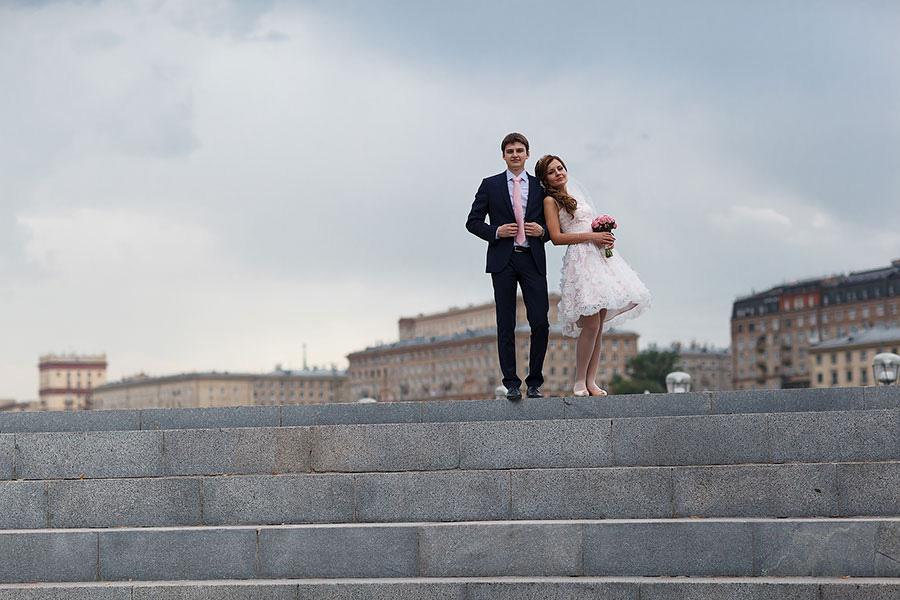 Свадебная фотосессия в парке Горького