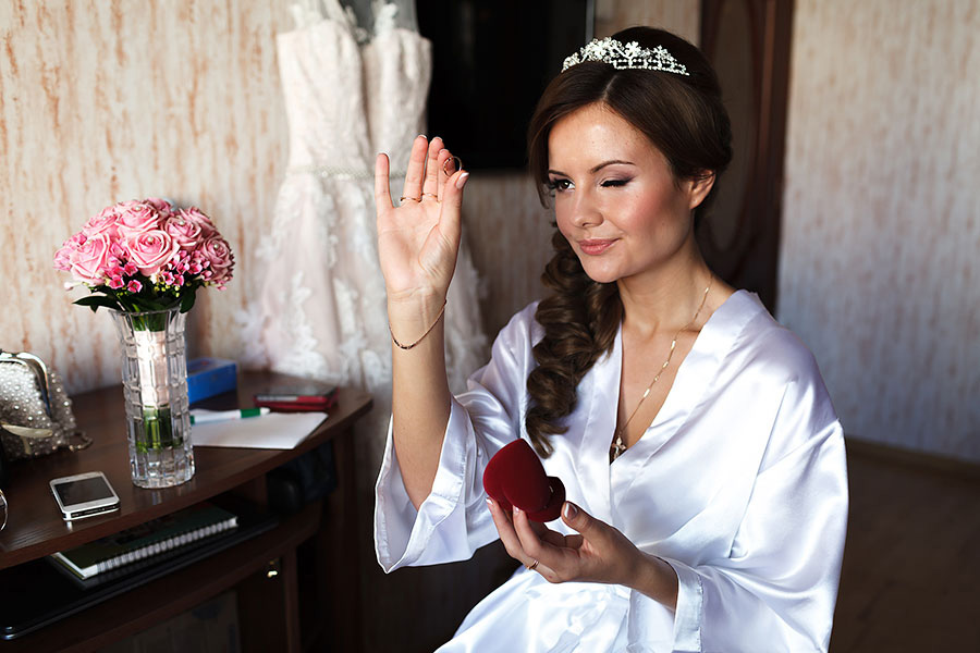Счастливая невеста Даша