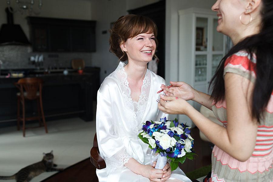 Счастливая невеста Аня