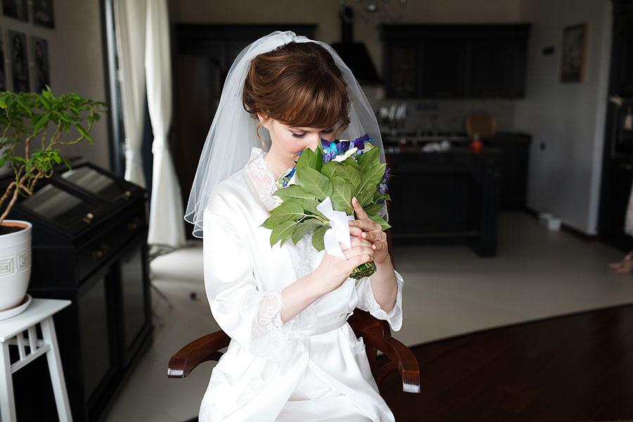 Теперь фото со свадебной фатой
