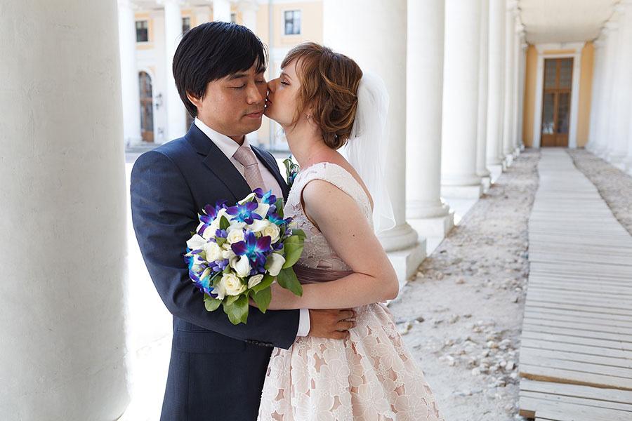 Милые Ёнмин и Анна в усадьбе Архангельское