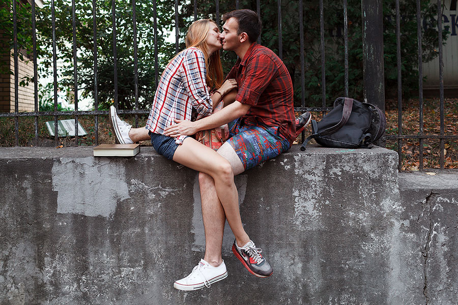 Красивая пара в центре Москвы
