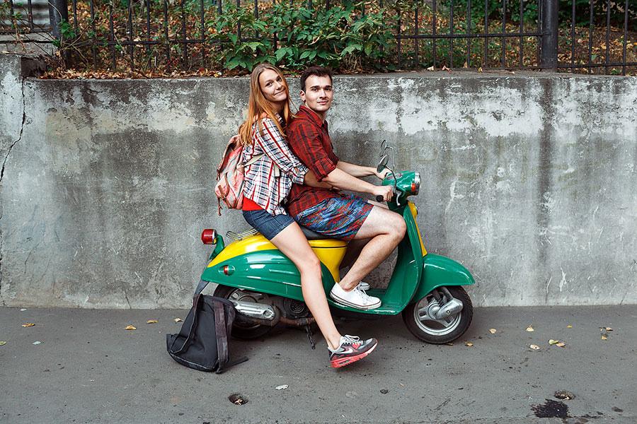 Фотосессия на скутере