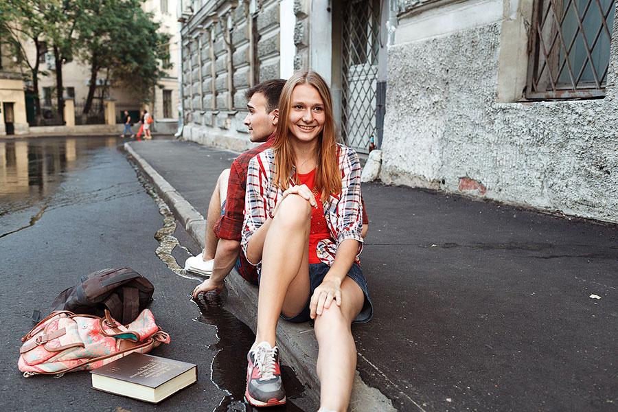 Настя и её жених Саша